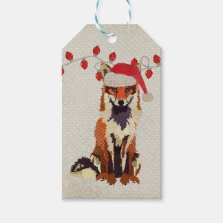 Festive Fox Gift Tag