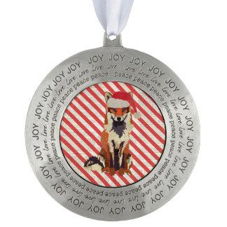 Festive Fox  Ornament Round Ornament