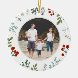 Festive Frame Holiday Keepsake Christmas Ornament