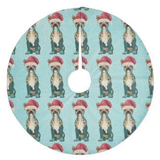 Festive French Bulldog Christmas Tree Skirt