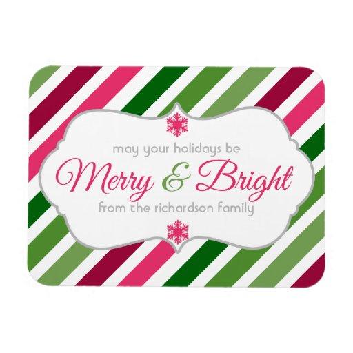 Festive Fun Merry and Bright Christmas Flex Magnet