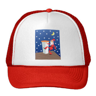 Festive Funny Christmas Santa Claus On The Roof Cap