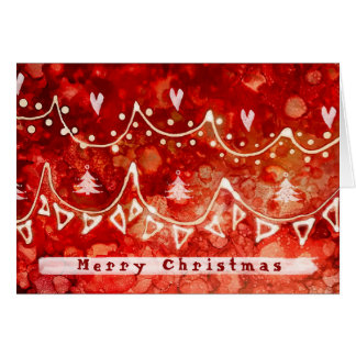 Festive Garlands Christmas Greetings Card