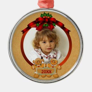 Festive Gingerbread Boy and Girl Christmas Ornament
