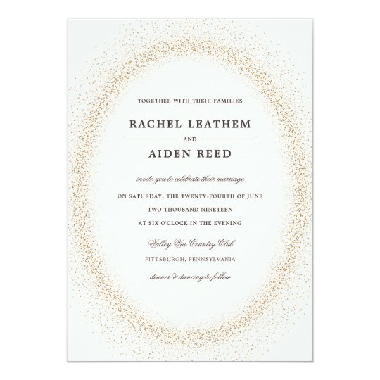 Festive Glittering Wedding Invitations