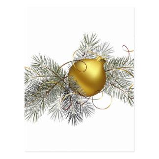 Festive Gold Decoration Postcard