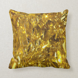 Festive Gold Foil Throw Pillow