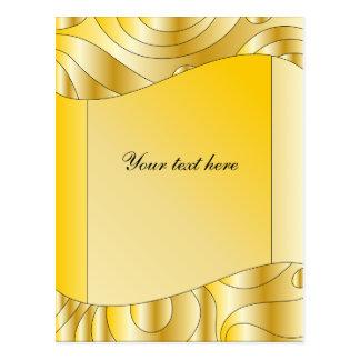 Festive golden design with stripes postcard