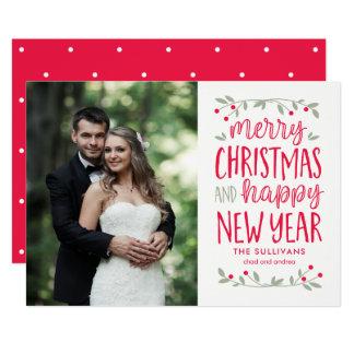 Festive Greetings Christmas Holiday Photo Cards