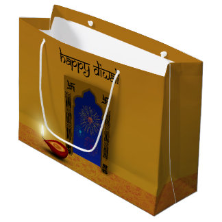 Festive Happy Diwali Fireworks - Large Gift Bag