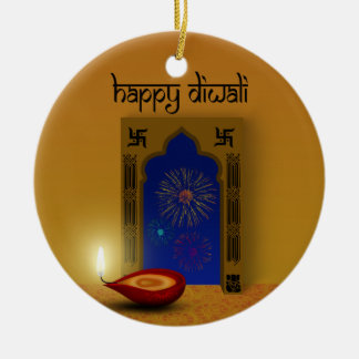Festive Happy Diwali Fireworks - Ornament