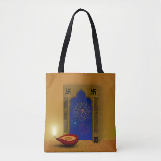 Festive Happy Diwali Fireworks - Tote Bag