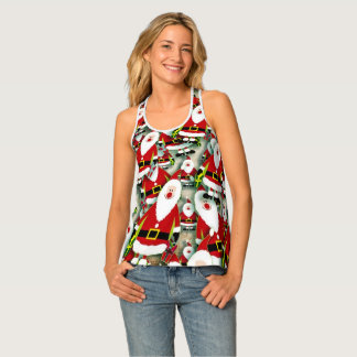 Festive Holiday Background Tank Top
