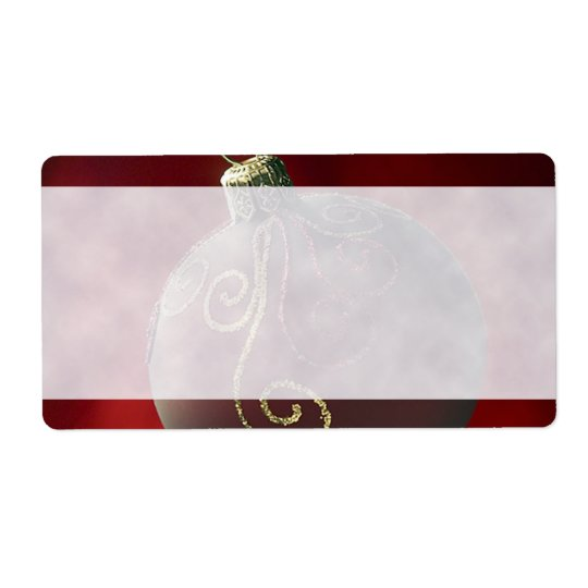 Festive Holiday Christmas Decoration Labels