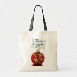 Festive Holiday Christmas Decorations Canvas Bags
