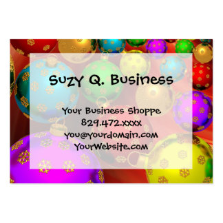 Festive Holiday Christmas Tree Ornaments Design Pack Of Chubby Business Cards