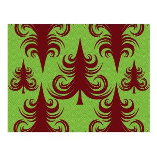 Festive Holiday Christmas Tree Xmas Design Postcard