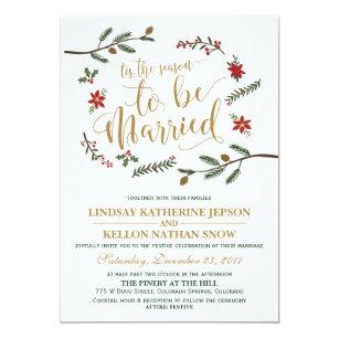 Christmas wedding invitations zazzle uk festive holiday christmas wedding invitation filmwisefo