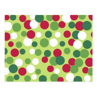 Festive Holiday Dots Postcard