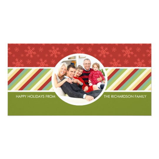 Festive Holiday Family Photo Cards