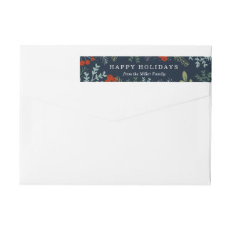 Festive Holiday Frame Wrap Around Label