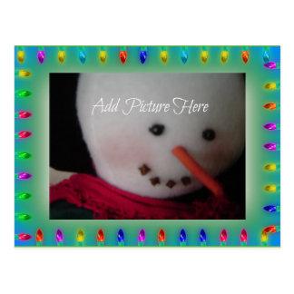 Festive Holiday Lights Photo Card Postcard