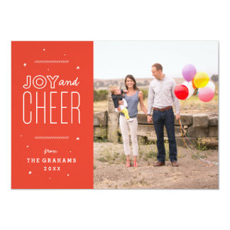 Festive Joy and Cheer Holiday Photo Card