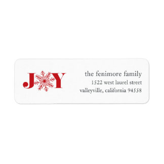 Festive Joy Holiday Return Address Labels