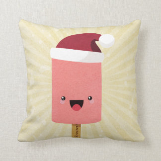 Festive Kawaii Happy Ice Lolly Popsicle Pillow