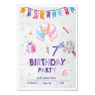 Festive Kid's Birthday Party Invitation