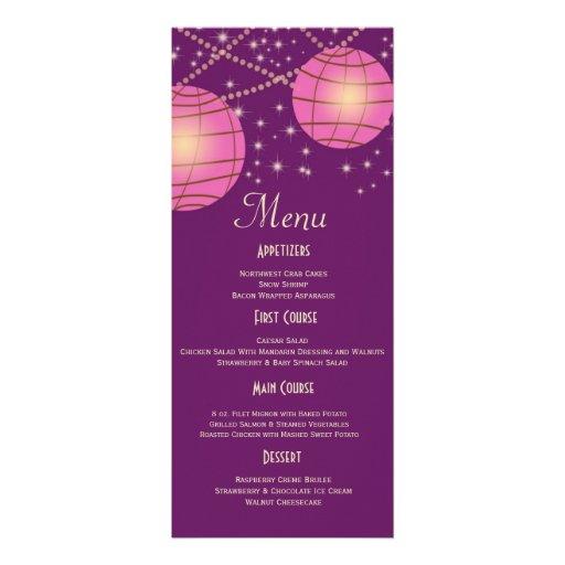 Festive Lanterns with Pastel Dark Purple & Pink Invites