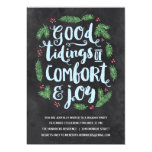 Festive Lettering   Chalkboard Holiday Party 13 Cm X 18 Cm Invitation Card