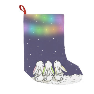 Festive lights and falling snow - Holiday Stocking