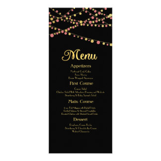 Festive Lights – Baby / Coral Pink + Gold Invites