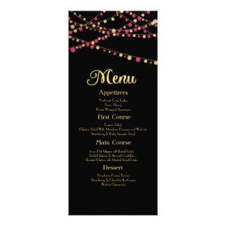 Festive Lights – Dark / Rose Pink + Gold Invites