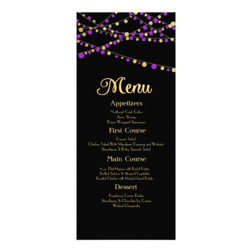 Festive Lights – Lavender / Purple + Gold Invites