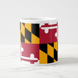 Festive Maryland State Flag Large Coffee Mug