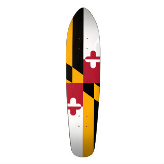 Festive Maryland State Flag Skate Boards