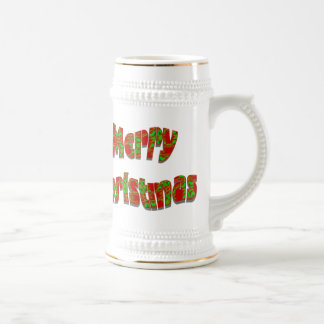 Festive Merry Christmas Design Beer Steins