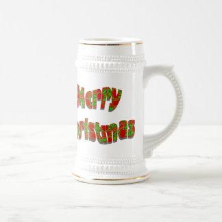 Festive Merry Christmas Design Beer Steins