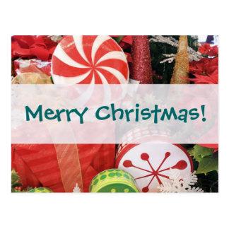 Festive Merry Christmas Design Postcards
