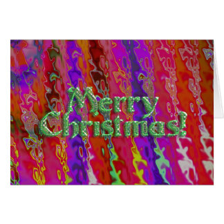 Festive Merry Christmas! Greeting Card