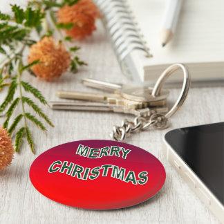Festive Merry Christmas Key Chains