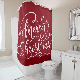 Festive Merry Christmas Shower Curtain