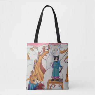 Festive Morning Tote Bag