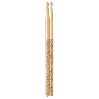 Festive Musical Notes, Bars, & Symbols Drumsticks