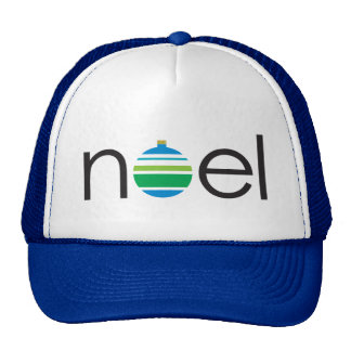 "Festive noel"" Christmas Holiday Striped Ball Cap"