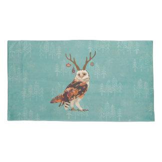 FESTIVE OWL CHRISTMAS PILLOWCASE