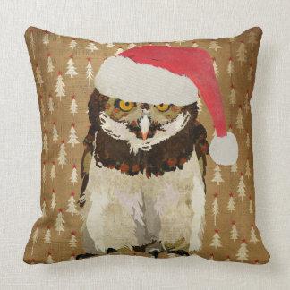 Festive Owl Mojo Pillow