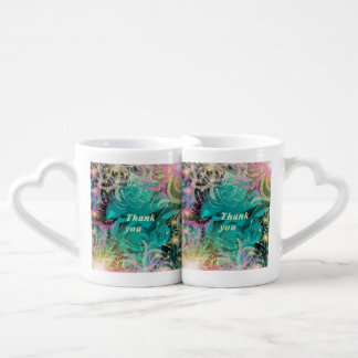 festive pattern with rose and thank you lovers mug